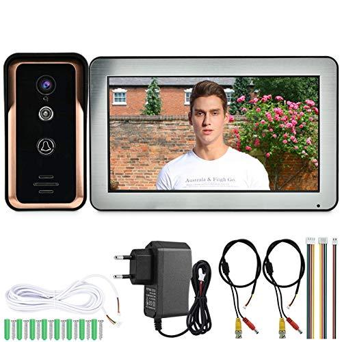 Videoportero Monitor Sistema de intercomunicación de seguridad para el hogar(European standard (100-240v))