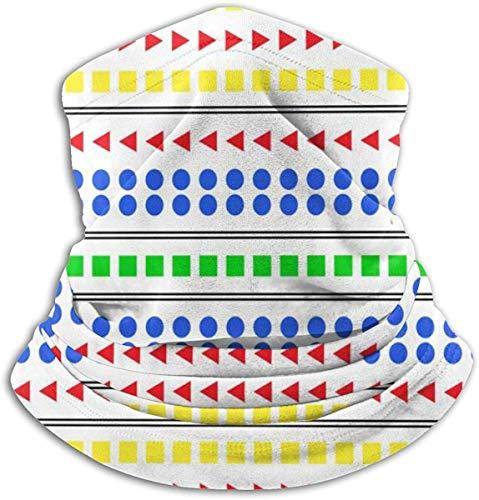 LSalas Triángulo Círculo Cuadrado Deportes Cubierta Cara Bufanda Pasamontañas Negro