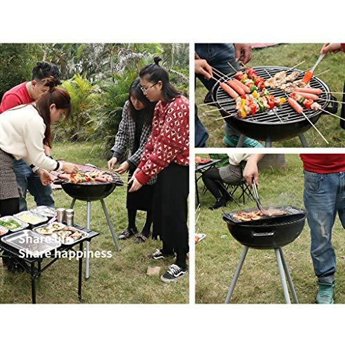 Küche Grillkamine Barbecue Holzkohlegrill Outdoor Tool Barbecue Haushaltskohlegrillzubehör Leicht Zu Reinigen Stabiles Und Langlebiges Familientreffen (Color : Black, Size : 47.5 * 70cm)
