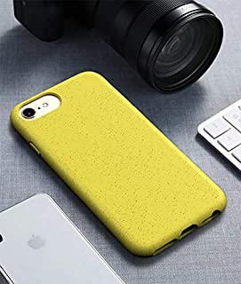 For iPhone6 & 6s Starry Series Shockproof Straw Material + TPU Protective Case New (Dark Green) Hopezs (Color : Yellow)