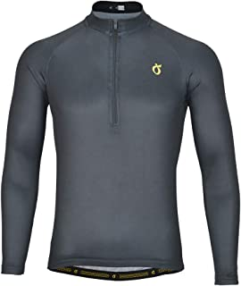 Emonder Men's Long Sleeve Cycling Jersey Bike Biking Shirt Quick Dry and Breathable