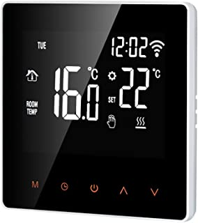 Wi-Fi Smart Thermostat Digital Temperature Controller Tuya APP Control LCD DisplayTouch Screen Week Programmable Electric ...