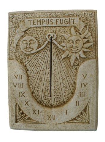 Catart Horloge murale d'extérieur en béton Tempus Fugit 60 x 80 cm