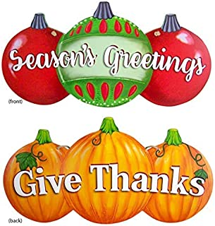 reversible pumpkin and ornament decoration