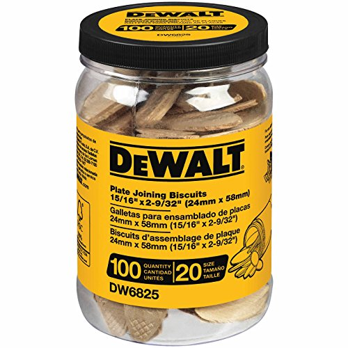 DEWALT, DW6825, Tube Biscuits - Size 20