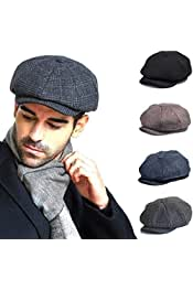 Fullsexy Sombrero para Hombre Baker Boy Newsboy Herringbone Gatsby Tommy Shelby Peaky Blinders Flat Cap