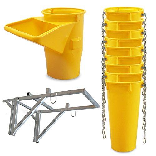 Profi Schuttrutsche Bauschuttrutsche Baurutsche 10 m, Set aus 9x Schuttrohr, Gestell und Einfülltrichter