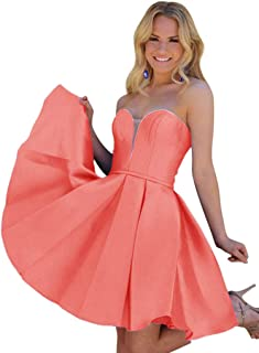 Jonlyc Varidress A-Line Sweetheart Satin Short Homecoming Dresses Graduation Party Gowns