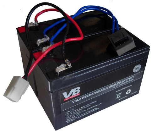 Razor Dirt Quad 9 ah High Capacity Razor Battery Replacement - Includes Wiring Harness (9 ah HIGH Capacity - 24 Volt System) by Vici Battery