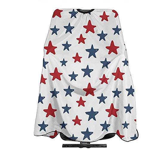 Hair Barber Cape Red Blue Star Professional Hairdressing Haircut Hair Styling Supplies Tool for Women Men
