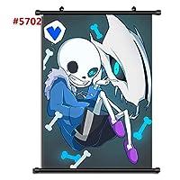 ゲームUndertaleSansアニメマンガ壁ポスタースクロール家の装飾壁アート映画ポスター19.7x29.5inch / 50x75cm