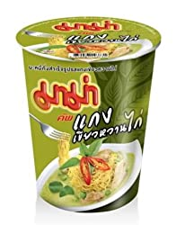 Instant Mama Noodles Thai Chicken Green Curry Flavor - 6 Cups