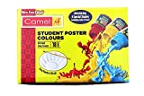 Pack of 18 shade bottles 10ml each, 1 palette, 1 brush They are easy to mix, flow easily and dry quickly, making painting a delightful experience Camel student poster colors are bold, bright and opaque