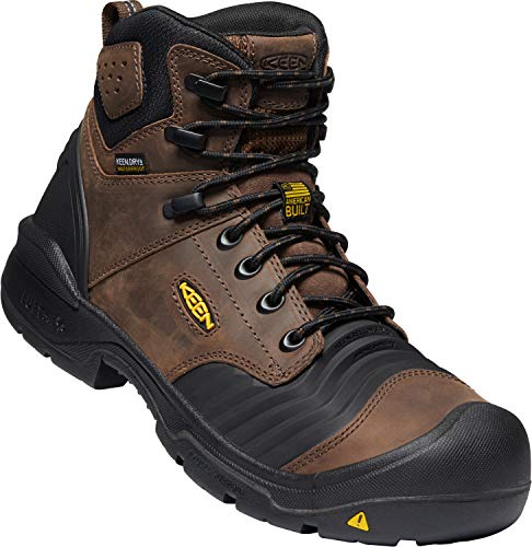 KEEN Utility - Portland 6', Composite Safety Toe Waterproof Work Boot, Dark Earth/Black, 10.5 Medium US