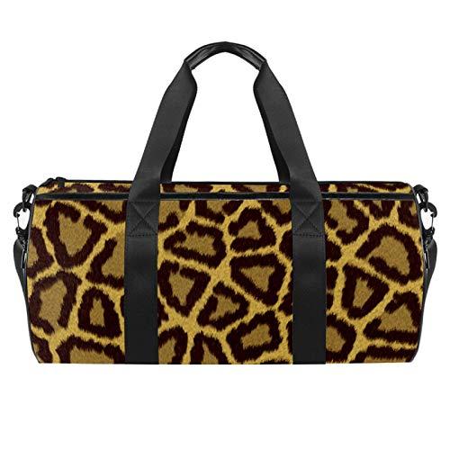KAIXINJIUHAO 18' Duffle Bag for Travel Gym Sports Lightweight Luggage Duffel ,Leopard Print