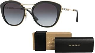 Burberry BE4251Q Round Sunglasses For Women+FREE Complimentary Eyewear Care Kit
