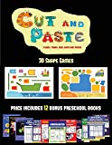 3D Shape Games (Cut and Paste Planes, Trains, Cars, Boats, and Trucks): 20 full-color kindergarten cut and paste activity sheets designed to develop ... book includes 12 printable PDF kindergart