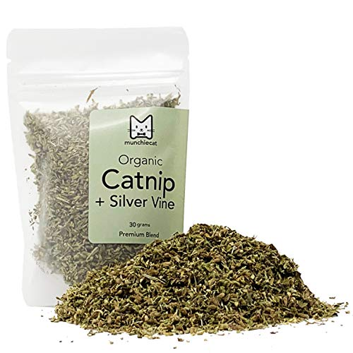 munchiecat Organic Catnip with Silvervine, USA Grown, Leaf...