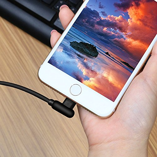 Micro USB Kabel Android, 4Pack (1ft 3ft 6ft 10ft) 90 Grad-Winkel-Design Micro Ladekabel für Samsung Galaxy S6, HTC, Kindle, MP3, Spielekonsolen, Kameras und weitere Micro USB-Geräte