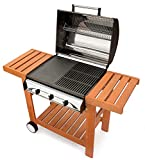BARBECUE GAS PROFY 3 WOODY INOX MCZ