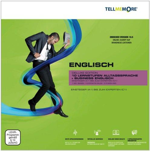 Preisvergleich Produktbild TELL ME MORE® Enriched Version (10.5) : Englisch,  Deluxe Edition,  DVD-ROM m. Audio-CD 'Business Talk' Premiumpaket aus Gold Edition (10 Lernstufen) und Business Englisch. Einsteiger (A1) bis zum Experten (C1)