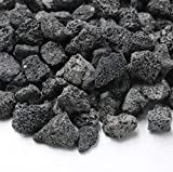 Skyflame Black Natural Stones Lava Rock Granules for Gas Fire Pit | Fireplace | Gas Log Set | BBQ Grills | Garden Landscaping Decoration | Cultivation of Potted Plants | Indoor Outdoor Use, 5-lb Bag