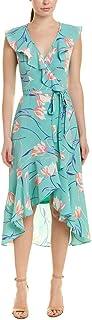Donna Morgan womens RUFFLE WRAP DRESS Business Casual Dress