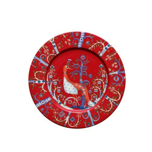 Iittala Taika Red Salad Plate 22cm by iittala Taika red