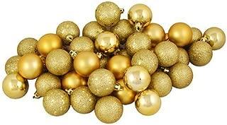Sea Star gold Christmas Tree Ball Ornaments mini Shatterproof Satin Shiny and Glitter Finish Bulb Christmas Ornaments (Gold, 21pcs)