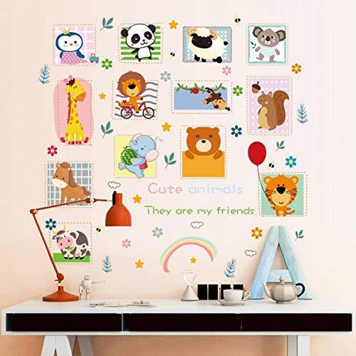 Dalao muursticker, dieren, cartoon, kinderkamer, veranda, slaapkamer, kasten, koelkast, waterdicht