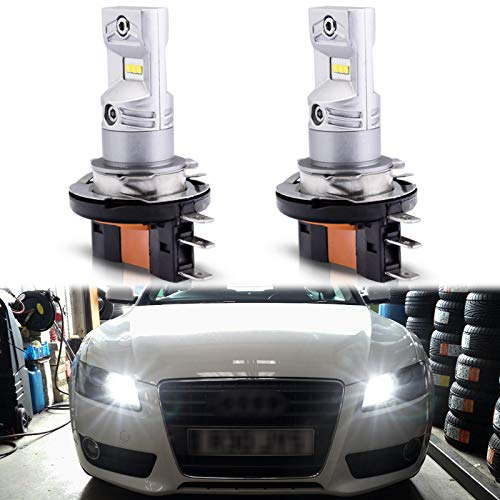 Xotic Tech H15 LED Light Bulbs Compatible with Audi & BMW & Mercedes, 100W Bright 6000K White