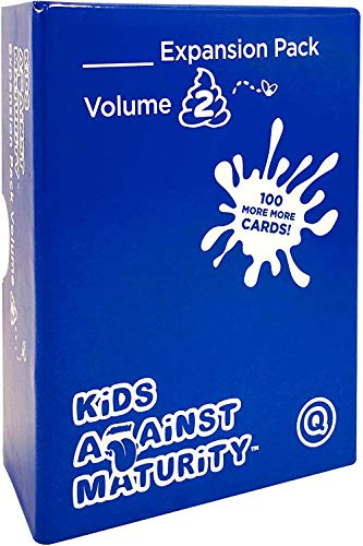 Kids Against Maturity Expansion Pack #2, Card Game for Kids and Families, Super Fun Hilarious for...