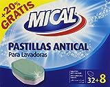 Mical - Pastillas antical para lavadoras - 20% Gratis - 32 + 8 pastillas