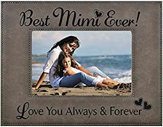 GIFT MIMI PICTURE FRAME ~ Engraved Leatherette Frame ~ Best MiMi Ever - Love You Always & Forever - Mother's Day MIMI Birthday Gift MiMi Christmas Gift Grandma Granddaughter Son (4x6, Gray)