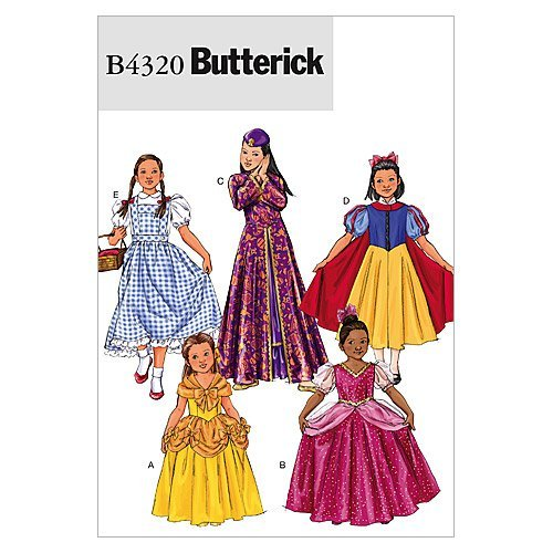 Berwick B4320 Girl's Princess Dress Halloween Costume Sewing Patterns, Sizes 7-14