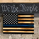 Blue Line Torched Concealment Flag