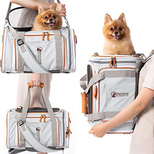 PETCIOUS犬猫ペットキャリーバッグリュックケースワンちゃんネコちゃんペットキャリーケージペット用キャリーバッグ
