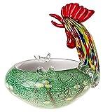 Cenicero/Fuente de Cristal - Estilo Murano Antiguo - Gallo - 18 cm, 2 kg
