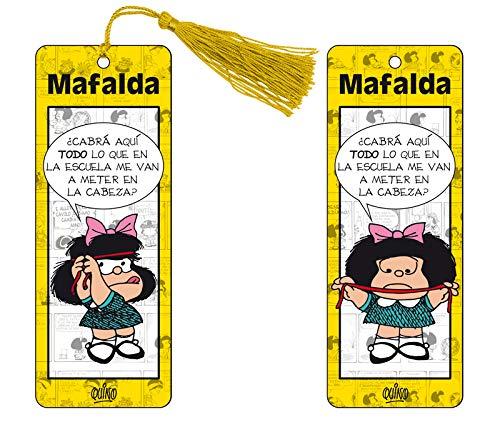 Marcapaginas 3D Mafalda (color amarillo)