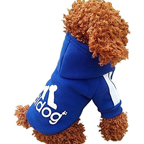 Dulee Adidog Winter-Kapuzen-Sweatshirt für Hunde - Haustierpulli für kleine bis große Hunde