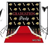 LB 5x7フィート 卒業式背景 パーティー写真用 2020年卒業式 卒業式 装飾 レッドカーペット 写真背景 写真ブーススタジオ小道具