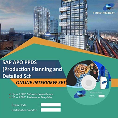 SAP APO PPDS (Production Planning and Detailed Sch Complete Unique Collection Interview Video Training Solution Set (DVD)