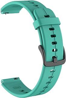 Enkomy Silikonarmband, 16 mm justerbar silikon sportarmband klocka rem för Huawei talkband B6