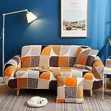 YQGOO, Funda de sofá elástica, Funda de sofá de Moda Funda de poliéster Antideslizante Protector de Muebles Lavable para Silla de Sala de Estar para Mascotas 90-140 CM (35-55 Pulgadas) -BK