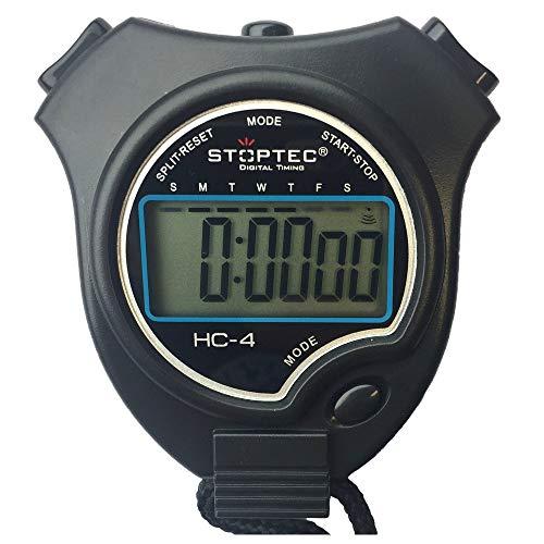 Schütt Stoppuhr Stoptec HC-4 mit Edelstahl Trillerpfeife - Digitale Stoppuhr mit großem Display | Hobby | Sport | Freizeit | spritzwasserfest | Kinder