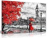 London Ölgemälde Kunstwerk Reproduktion Big Ben Red