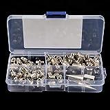 Juego de accesorios de boquilla de engrase de repuesto de metal, pieza de lubricación mecánica para pistola...