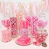 Premium Pink Candy Buffet (15+ Pounds) Includes Hershey's Kisses, M&M's, Jelly Belly Jelly Beans, Starburst & More - Feeds approx 24-36 people Breast Cancer Awareness Candy