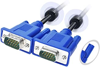 VGA,LFHUKEJI VGA-VGA Standard 15-Pin VGA Male to VGA Male Cable, 4.8Ft(3+5)