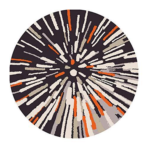HYYDT-1 tapijt, rond tapijt, vintage-stijl, polyester, antislip, voor babybed, voor woonkamer, tapijt